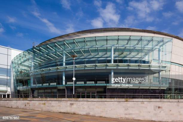 uk, northern ireland, exterior - conference centre stock pictures, royalty-free photos & images