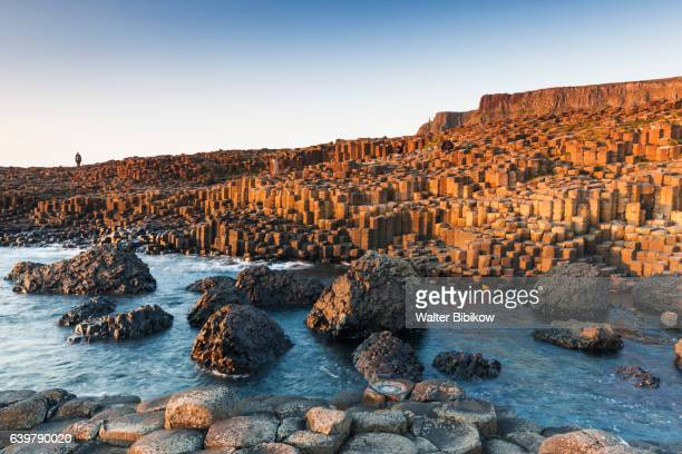 uk, northern ireland, exterior - giant's causeway stock pictures, royalty-free photos & images