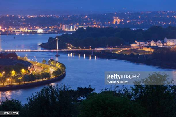 uk, northern ireland, exterior - river foyle stock pictures, royalty-free photos & images