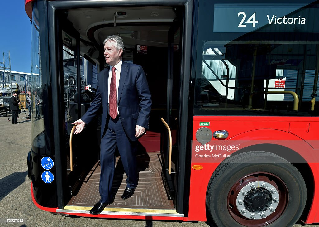 Northern Ireland First Minister and DUP leader Peter Robinson attends the launch of the Democratic Unionist Party Election Manifesto at Wrightbus, supplier of the London Routemaster buses on April 21, 2015 in Antrim, Northern Ireland. Many political observers have predicted that the expected 8-10 DUP Westminster seats could have a key role in deciding who will form the next government if the general election results in a hung parliament. In anticipation of the important role the party may play the DUP has already outlined their demands from a potential government partner and hasn't ruled out working with Labour or the Conservatives.