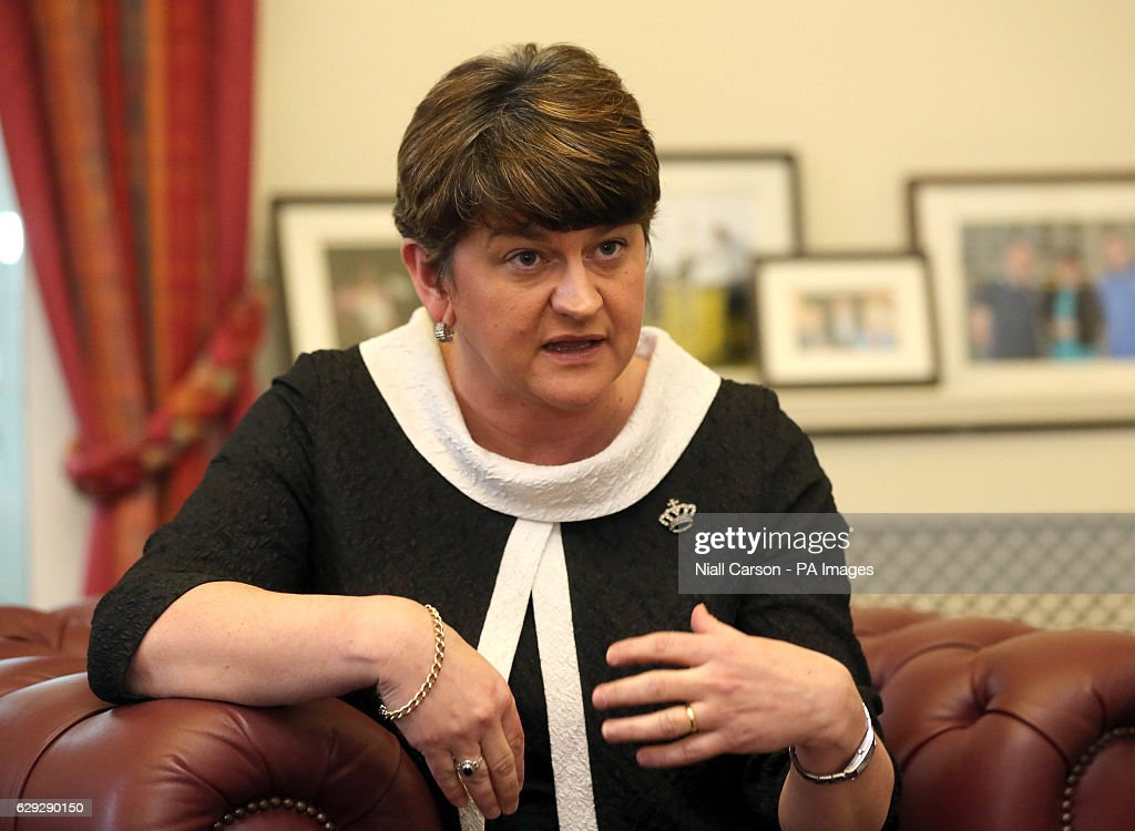 Arlene Foster Interview : News Photo