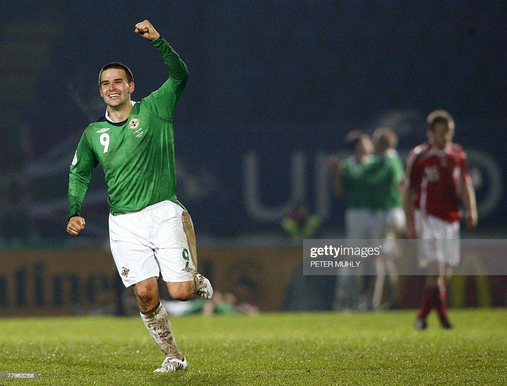 Northern Ireland footballer David Healy : News Photo