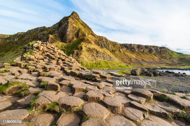 uk, northern ireland, giant's causeway - basalt stock pictures, royalty-free photos & images
