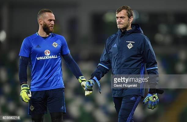 Northern Ireland , Ireland - 15 November 2016; Alan Mannus, left, and Roy Carroll of Northern Ireland ahead of the International Friendly match...