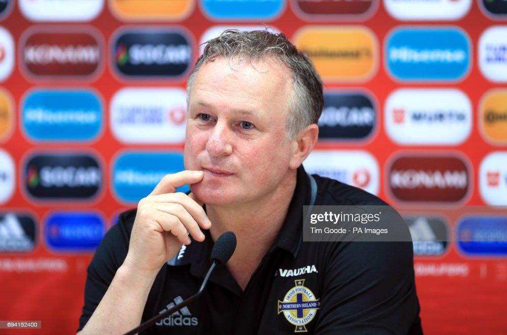 Northern Ireland Training and Press Conference - Tofiq Bahramov Stadium : News Photo