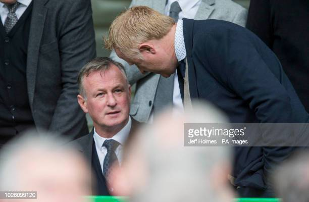 Northern Ireland Manager Michael ONeill during the Ladbrokes Scottish Premiership match at Celtic Park Glasgow