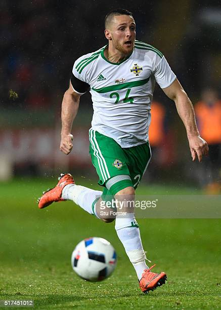 Northern Ireland player Conor Washington in action during the International friendly match between Wales and Northern Ireland at Cardiff City Stadium...