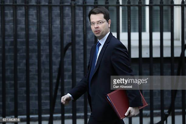Northern Ireland Secretary James Brokenshire arrives on Downing Street to attend the weekly Cabinet Meeting on January 10 2017 in London England The...