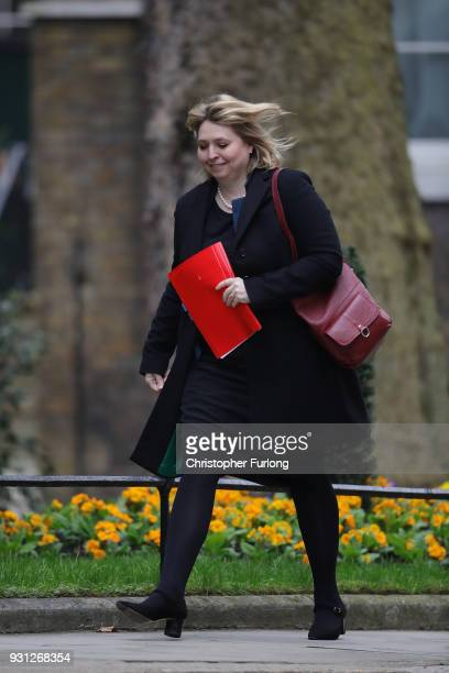 Northern Ireland Secretary Karen Bradley arrives for the weekly cabinet meeting at 10 Downing Street on March 13 2018 in London England