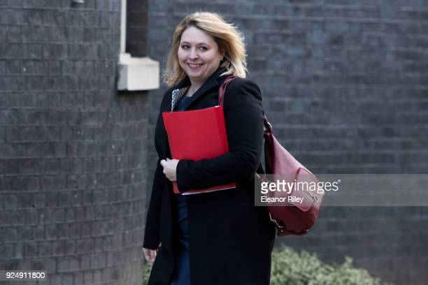 Northern Ireland Secretary Karen Bradley arrives on Downing Street for the weekly cabinet meeting on February 27 2018 in London England