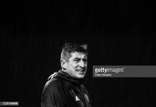 Northern Ireland , United Kingdom - 19 October 2020; Derry City manager Declan Devine during the SSE Airtricity League Premier Division match between...