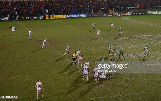 Northern Ireland United Kingdom 3 March 2017 A general view of action during the Guinness PRO12 Round 17 match between Ulster and Benetton Treviso at...
