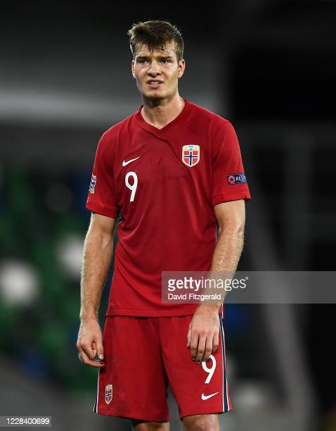 Northern Ireland United Kingdom 7 September 2020 Alexander Sørloth of Norway during the UEFA Nations League B match between Northern Ireland and...