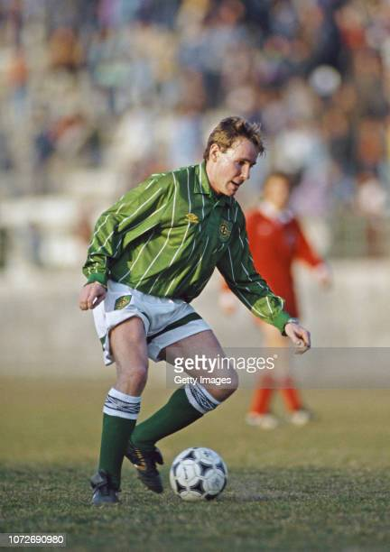 Northern Ireland winger Kingsley Black in action during a World Cup Qualifier against Albania on February 17 1993 in Tirana Albania