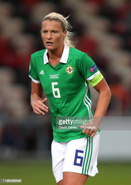 Northern Ireland's Ashley Hutton during the UEFA Women's Euro 2021 Qualifying Group C match at Rodney Parade Newport