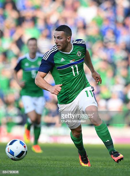 Northern Ireland's Conor Washington during the international friendly game between Northern Ireland and Belarus on May 27 2016 in Belfast Northern...