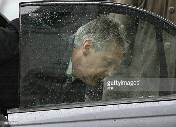Northern Ireland's First Minister Peter Robinson arrives at Stormont Government buildings in Belfast, Northern Ireland, on January 11, 2010. Northern...