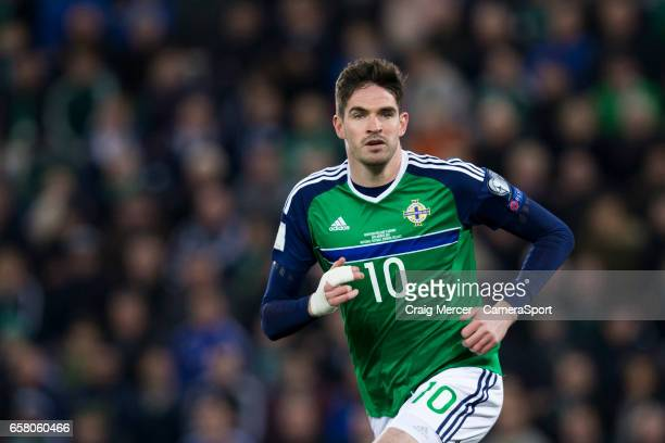 Northern Ireland's Kyle Lafferty during the FIFA 2018 World Cup Qualifier between Northern Ireland and Norway at Windsor Park on March 26 2017 in...
