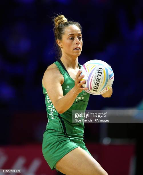 Northern Ireland's Lisa McCaffrey in action against New Zealand during the Netball World Cup match at the MS Bank Arena Liverpool