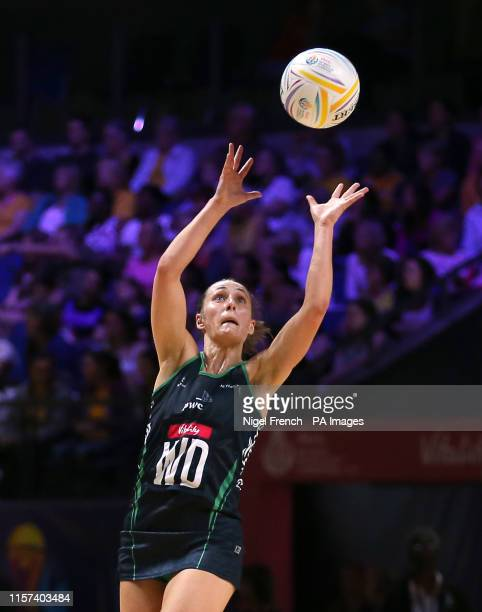 Northern Ireland's Lisa McCaffrey in action during the Netball World Cup match at the MS Bank Arena Liverpool