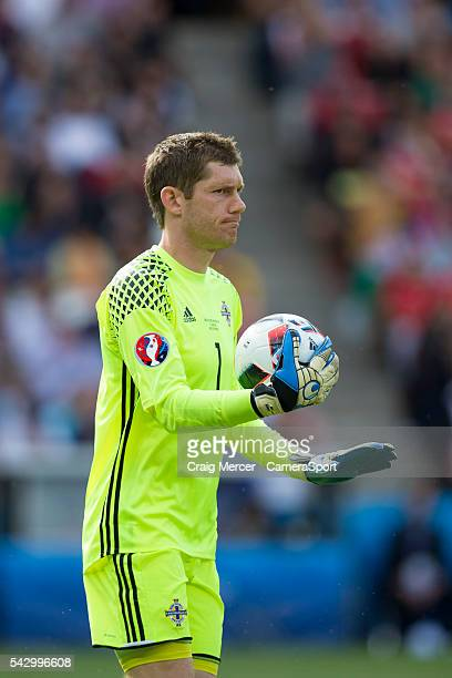 Northern Ireland's Michael McGovern during the UEFA Euro 2016 Round of 16 match between Wales and Northern Ireland at Parc des Princes on June 25 in...