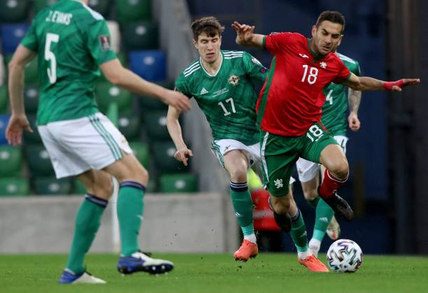GBR: Northern Ireland v Bulgaria - FIFA World Cup 2022 Qatar Qualifier