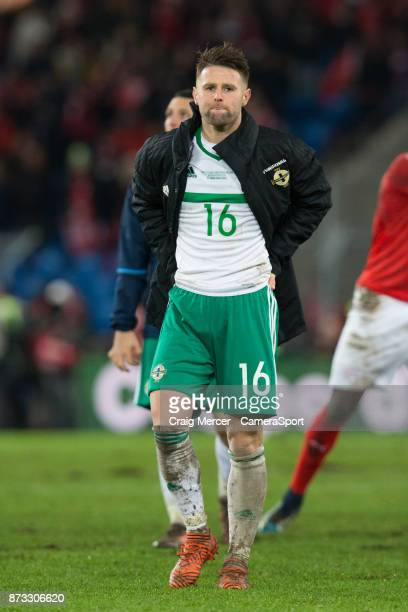 Northern Ireland's Oliver Norwood looks dejected after the FIFA 2018 World Cup Qualifier PlayOff Second Leg between Switzerland and Northern Ireland...