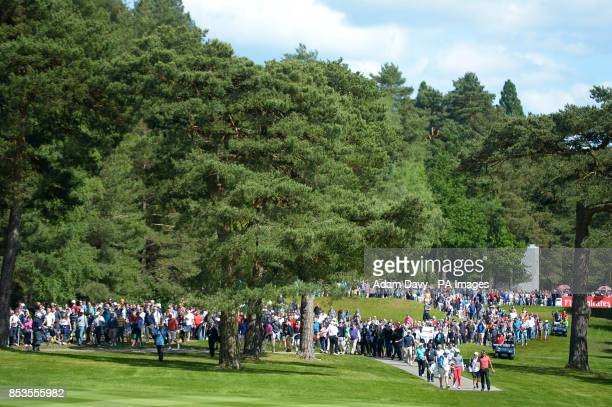 Northern Ireland's Rory McIlroy makes his way down the 12th fairway during day four of the BMW PGA Championships at the Wentworth Club Surrey