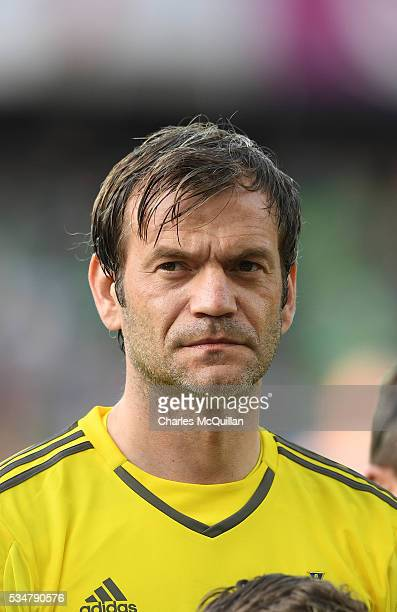 Northern Ireland's Roy Carroll before the international friendly game between Northern Ireland and Belarus on May 27, 2016 in Belfast, Northern...