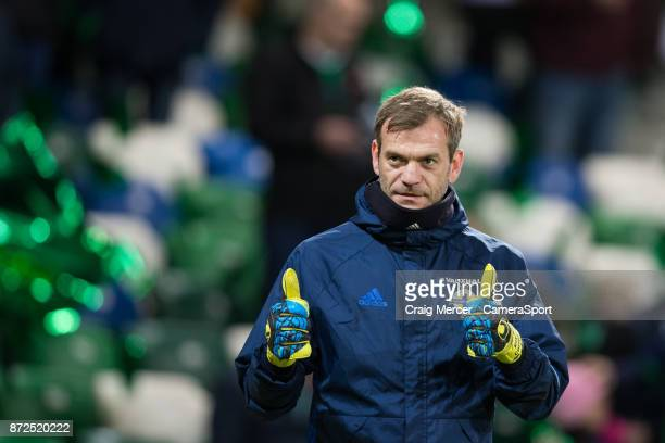 Northern Ireland's Roy Carroll during the pre-match warm-up during the FIFA 2018 World Cup Qualifier Play-Off: First Leg between Northern Ireland and...