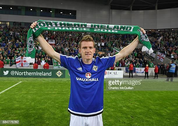 Northern Ireland's Steve Davis after the international friendly game between Northern Ireland and Belarus on May 27 2016 in Belfast Northern Ireland