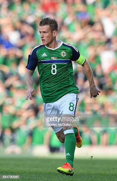 Northern Ireland's Steve Davis during the international friendly game between Northern Ireland and Belarus on May 27 2016 in Belfast Northern Ireland