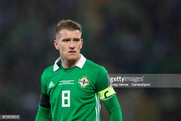 Northern Ireland's Steven Davis during the FIFA 2018 World Cup Qualifier PlayOff First Leg between Northern Ireland and Switzerland at Windsor Park...