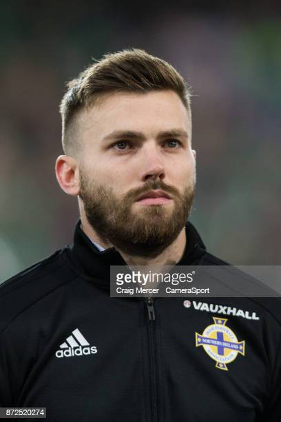 Northern Ireland's Stuart Dallas before the FIFA 2018 World Cup Qualifier PlayOff First Leg between Northern Ireland and Switzerland at Windsor Park...