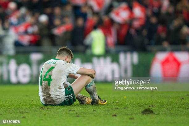 Northern Ireland's Stuart Dallas looks dejected after the FIFA 2018 World Cup Qualifier PlayOff Second Leg between Switzerland and Northern Ireland...
