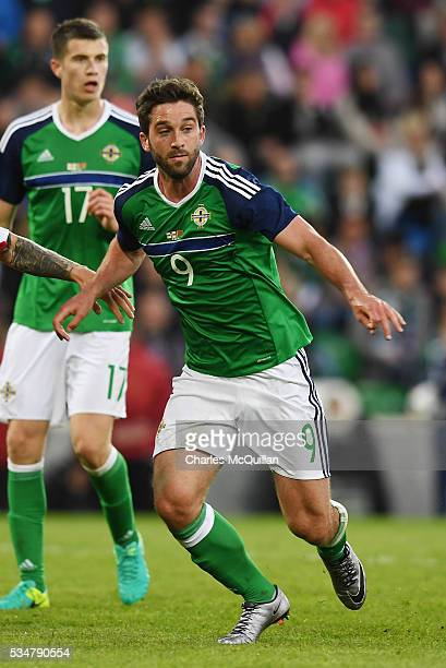Northern Ireland's Will Grigg during the international friendly game between Northern Ireland and Belarus on May 27 2016 in Belfast Northern Ireland