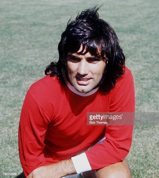 Northern Irish footballer George Best of Manchester United, circa 1970.