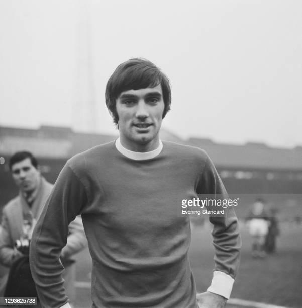 Northern Irish footballer George Best of Manchester United FC, UK, November 1967.