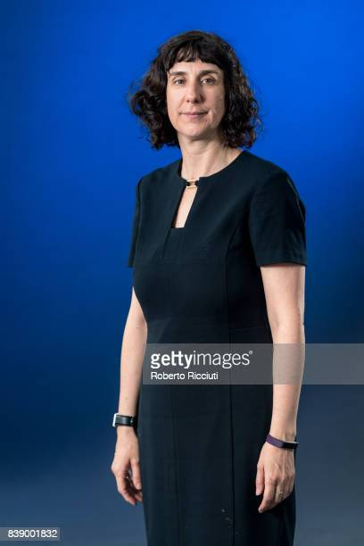 Northern Irish poet Sinead Morrissey attends a photocall during the annual Edinburgh International Book Festival at Charlotte Square Gardens on...