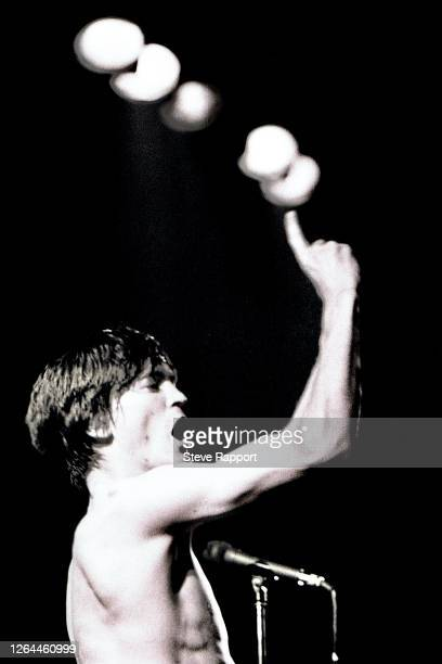 Northern Irish Punk, Pop, and Rock singer Feargal Sharkey of the group the Undertones, National Club, Kilburn, 8/16/1982.