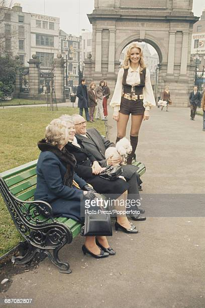 Northern Irish singer Clodagh Rodgers pictured standing in St Stephen's Green in Dublin before going on to perform the song 'Jack In The Box' on...
