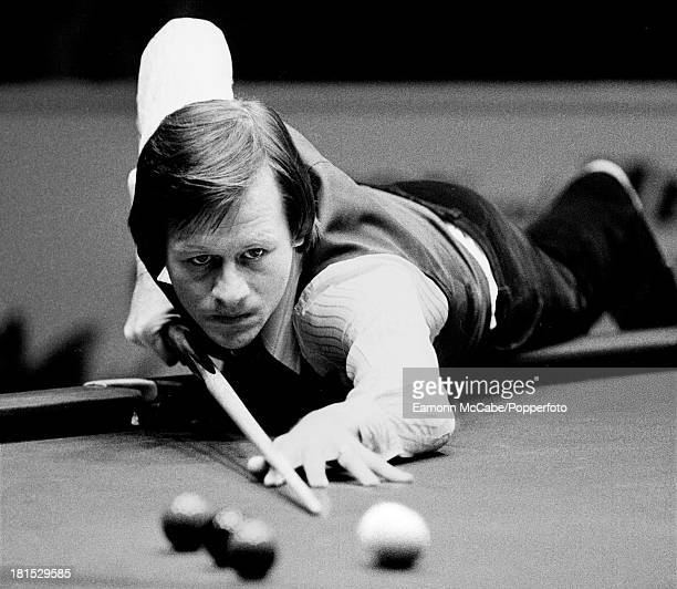Northern Irish snooker player Alex 'Hurricane' Higgins competing at the Benson and Hedges Masters at Wembley Conference Centre London 2nd8th February...