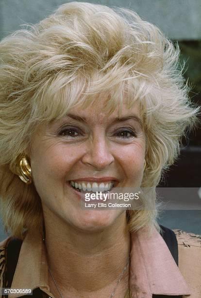 Northern Irish television and radio presenter Gloria Hunniford circa 1990