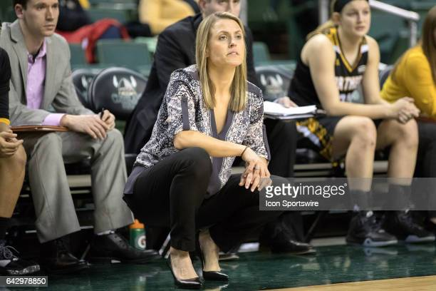 Northern Kentucky Norse head coach Camryn Whitaker during the fourth quarter of the women's college basketball game between the Northern Kentucky...