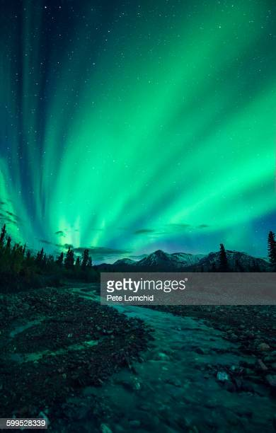 Northern light and river