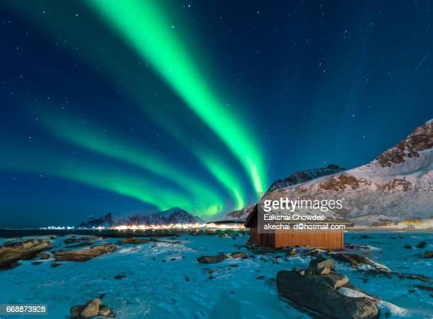 Northern light over Lofoten