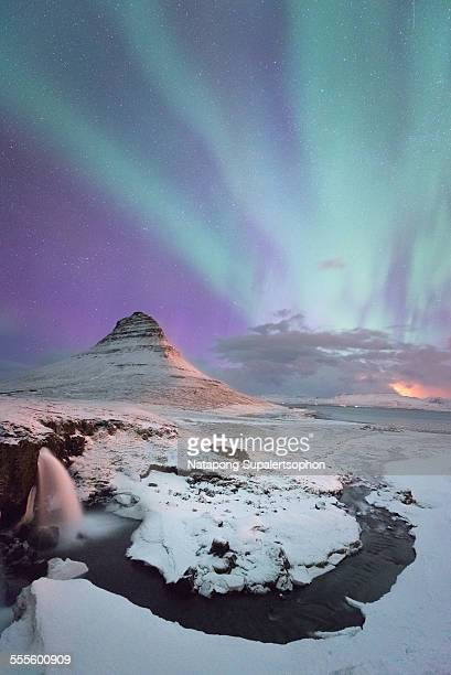 Northern light with Kirkjufell