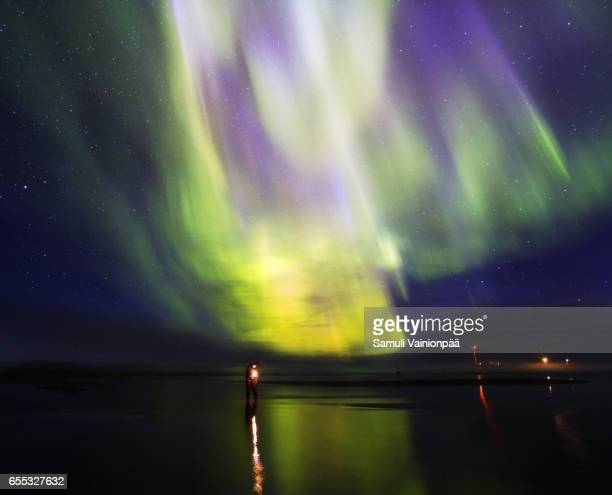 Northern Lights / Aurora Borealis seen in Hailuoto, Oulu Finland