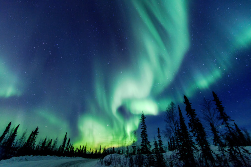 Northern Lights close to Yellowknife in the Northw - gettyimageskorea