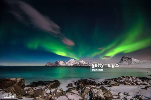 Northern Lights, Flakstad, Lofoten Islands, Norway